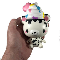 Creamiicandy Yummiibear Squishy Country Cow squishy front view held in hand