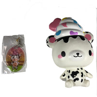Creamiicandy Yummiibear Squishy Country Cow squishy front view with tag