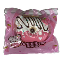 Yummiibear Strawberry Donut Squishy front view in packaging