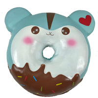Puni Maru Jumbo Poli Hamster Donut Squishy in Display Box