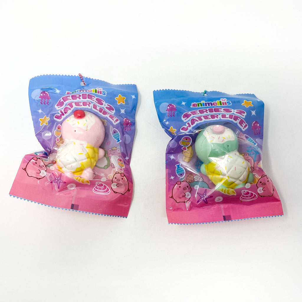 Creamiicandy Mini Animelliis Icecream Turtle Squishy Under the Sea Series