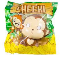 Puni Maru Jumbo Cheeki Squishy  Surprised Cross Eyed version front view in packaging