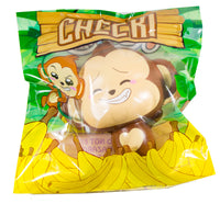 Puni Maru Jumbo Cheeki Squishy Open Smile Closed Eyes version front view in packaging