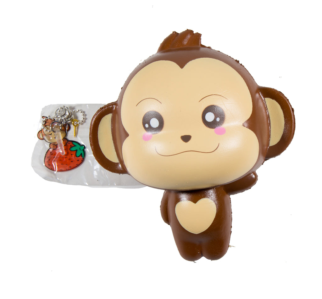 Puni Maru Jumbo Cheeki Squishy Normal Smile Open Eyes version front view with tag