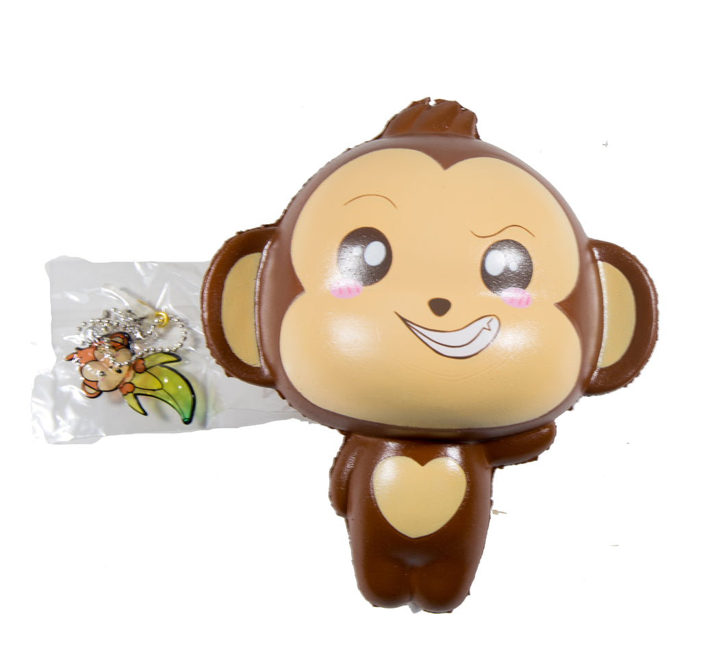 Puni Maru Jumbo Cheeki Squishy Open Smile Open Eyes version front view with tag