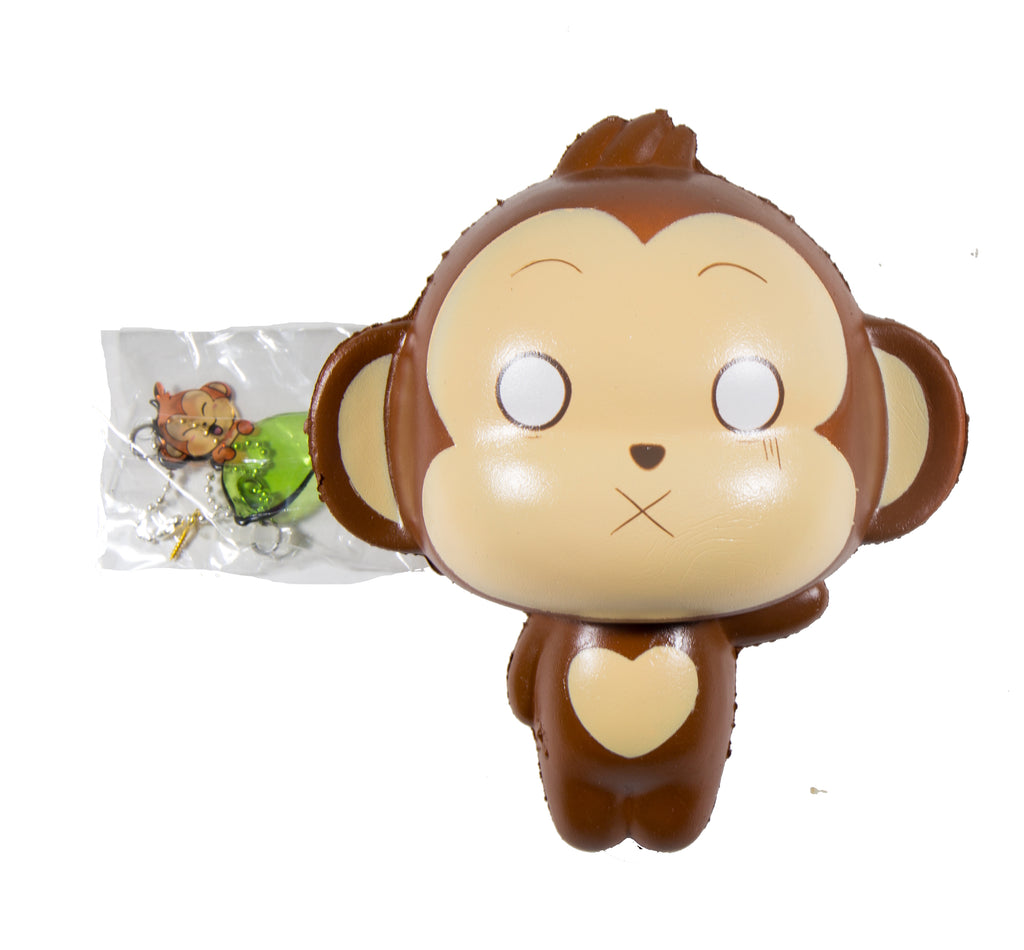 Puni Maru Jumbo Cheeki Squishy  Surprised Cross Eyed version front view with tag