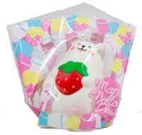 IBloom Marshmallow Bear Squishy front view of Red Strawberry Smile in packaging