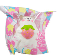 IBloom Marshmallow Bear Squishy front view of Pink Strawberry Smile in packaging