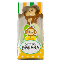 Puni Maru Cheeki's Magical Banana green version front view in display box