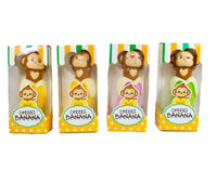 Puni Maru Cheeki's Magical Banana front view all 4 styles in display boxes