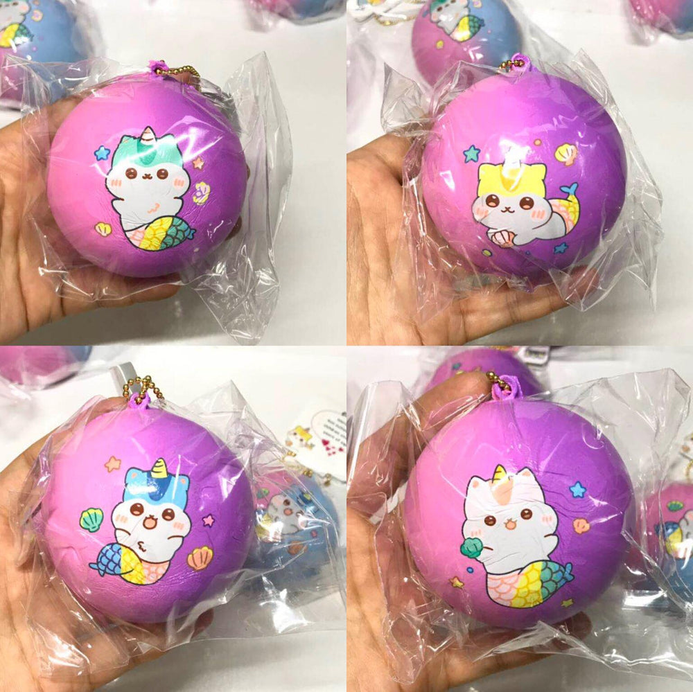 Poli Pink Purple Medium Mermaid Bun Squishy