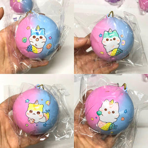 Poli Purple Blue Medium Mermaid Bun Squishy