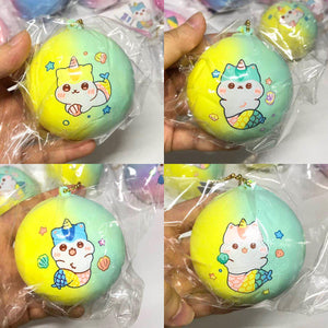 Poli Yellow Green Medium Mermaid Bun Squishy