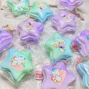 Poli Star and Moon Star Macaron Squishy