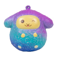 Puni Maru Easter Musical Sheep Squishy - Galaxy Winky Eyes Lamb front view