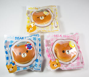 Puni Maru Mini Bear Pancake Squishy all 3 styles in packaging front view