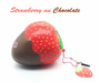 Puni-Maru Jumbo Super Squishy Strawberry Dipped In Chocolate Squishy