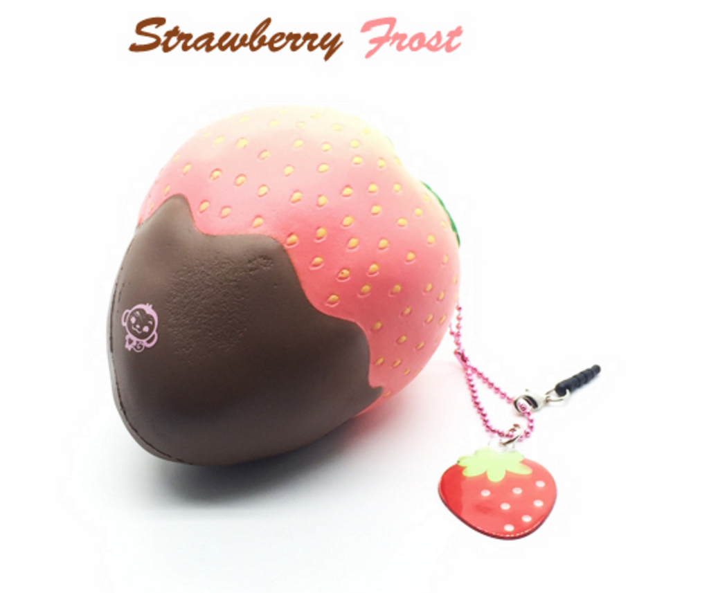 Bags for school 2016 - Puni Maru Jumbo Super Squishy Strawberry Dipped In Chocolate Squishy