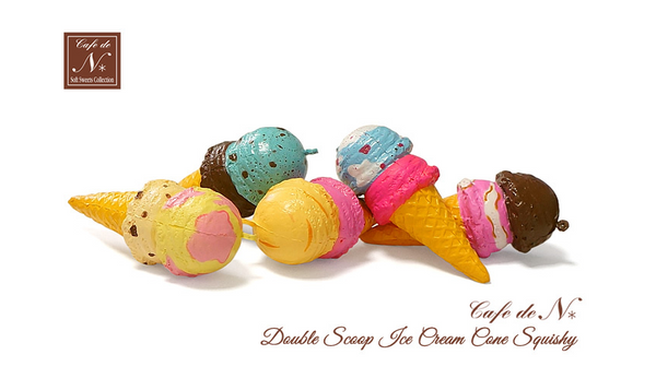 New NIC Cafe De N Double Ice Cream Cone Squishy