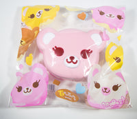 ibloom Tea Time Bear Squishy pink version front view in packaging