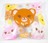 ibloom Tea Time Bear Squishy brown version front view in packaging