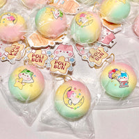 Poli Rainbow Space Mini Bun Squishy