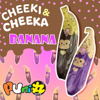 Cheeki and Cheeka Jumbo Banana Squishy