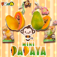 Cheeki and Cheeka Mini Papaya Squishies by Puni Maru