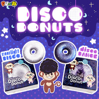 Puni Maru Cheeki and Cheeka Disco Donut Squishy with Display Box.