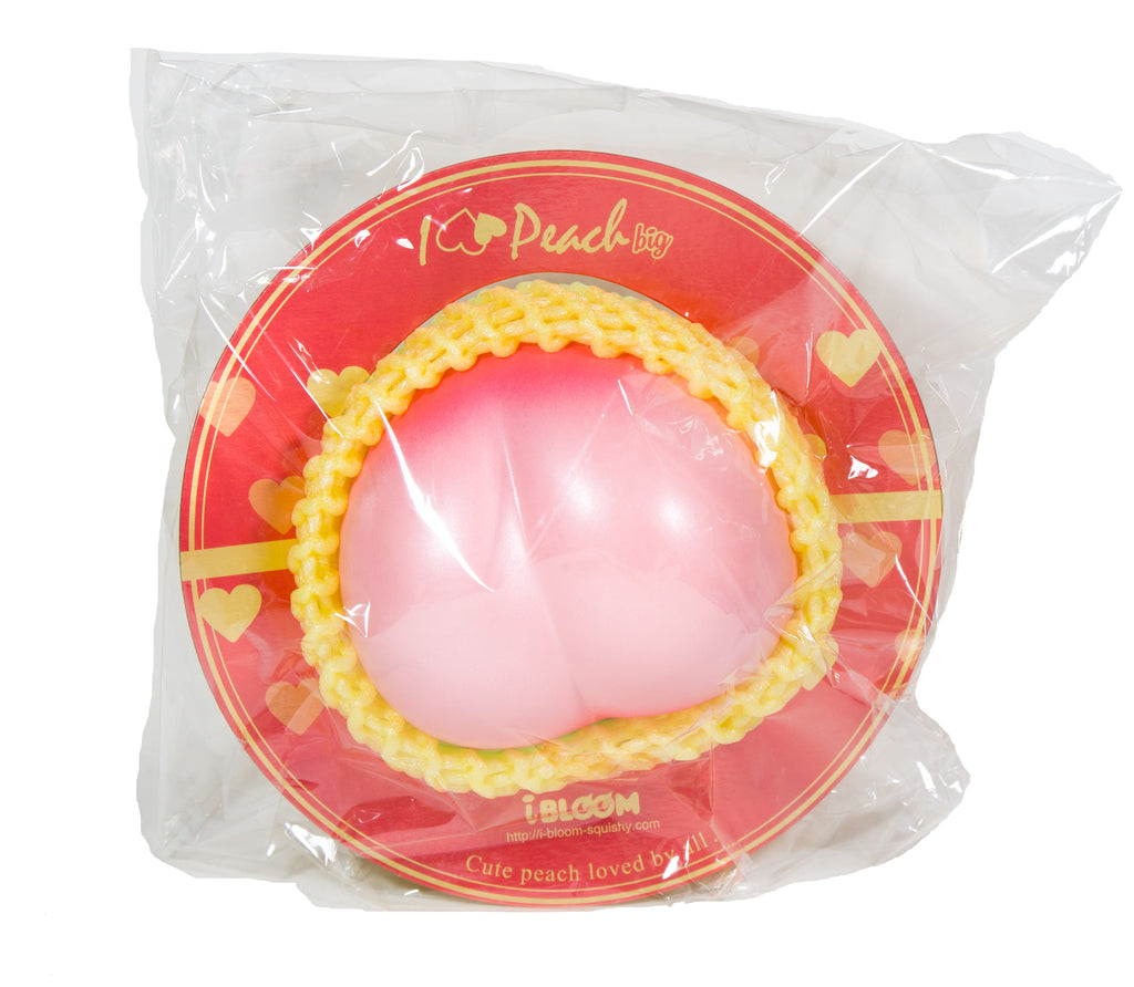 iBloom Super Jumbo I Love Peach Squishy ibloom peach pink in packaging