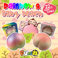 Puni Maru Super Jumbo Rainbow and Baby Peach Squishy