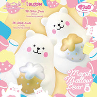 IBloom Marshmallow Bear Squishy Mr White Gold and Silver