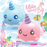 iBloom Big Millie and Billie the Whale Squishy