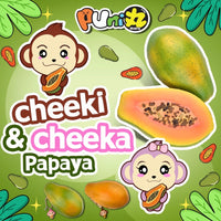 Puni Maru Super Jumbo Cheeki and Cheeka Papaya Squishy Company Add