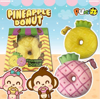 Puni Maru Jumbo Pineapple Donut Squishy with Display Box