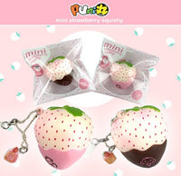 Puni Maru Strawberry Mini Cheeki Pineberry Strawberry Squishy Puni Maru add