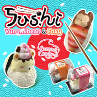 Puni Maru Foxy and Yummiibear Sushi Squishy