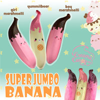 Creamiicandy Yummiibear and Marshmelli Jumbo Banana Squishy