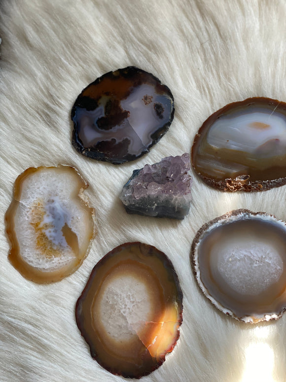 Natural Agate Slices
