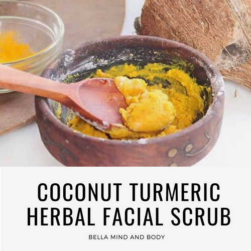 Coconut Turmeric Herbal Facial Scrub