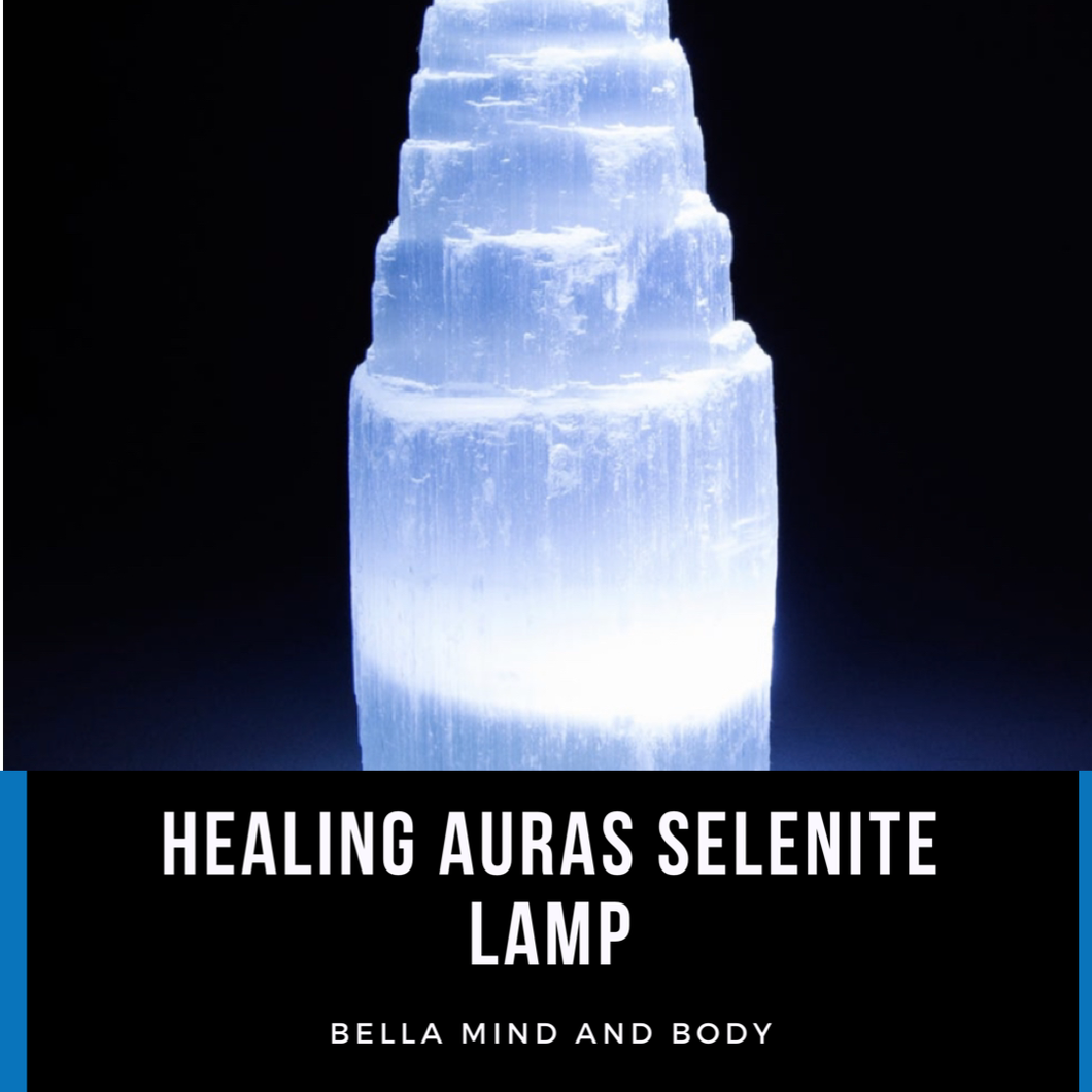 "Healing Auras Selenite 5"" Lamp"