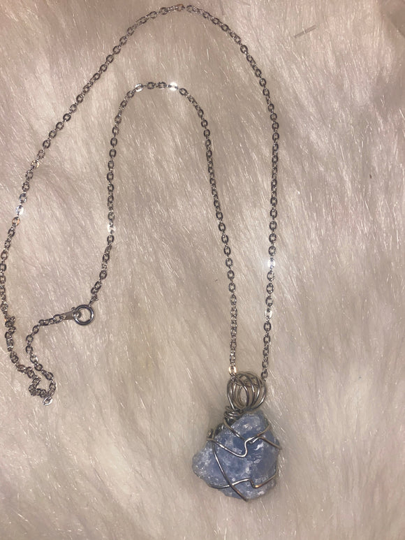 Blue Calcite Healing Chain