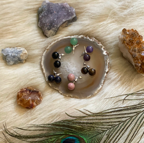 Crystal Healing Stud Earrings