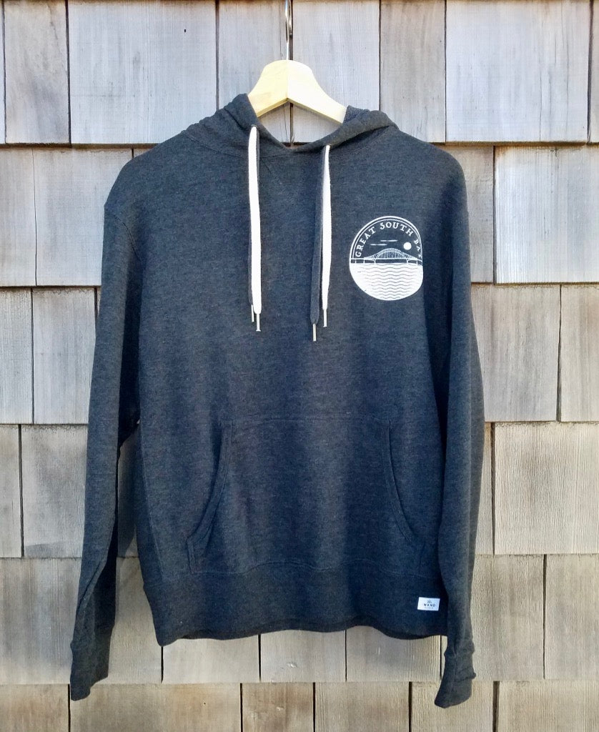 unisex great south bay gray hoodie
