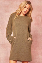 Load image into Gallery viewer, Speckled knit sweater dress