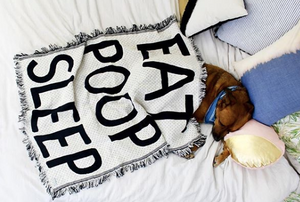 Eat.Poop.Sleep mini throw blanket