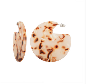 Clare earrings blush tortoise