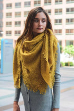 Load image into Gallery viewer, Mohair Blanket Scarf Mustard