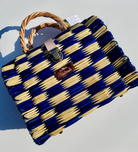 Medium Bag checkered Blue