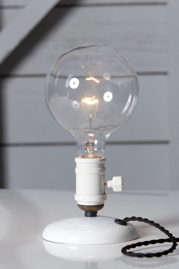 Industrial Desk Light Bare Bulb Lamp Industrial Light